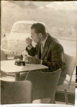 Peter Lehner, Mann im Cafe, Fotografie
