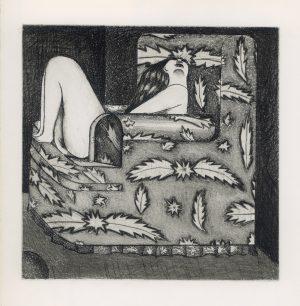 Wolfgang Herzig, Im Fauteuil, Radierung mit Aquatinta