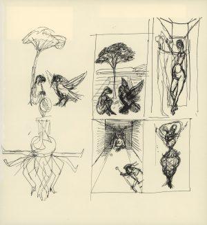 Rudolf Hausner, Traumfragmente, Lithographie