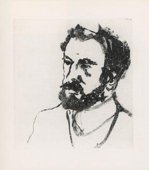 Georg Eisler, Kopf G. K. Gustav Klimt, Aquatinta-Ätzung