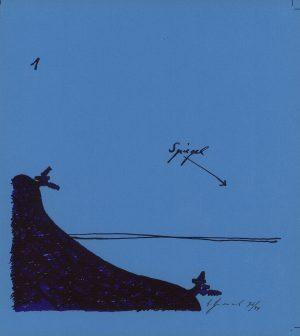 Bruno Gironcoli, Spiegel I, Lithographie