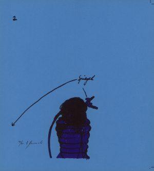 Bruno Gironcoli, Spiegel II, Lithographie