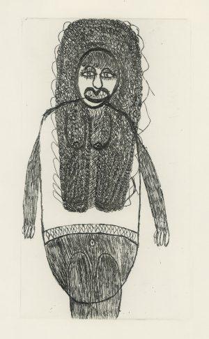 Johann Hauser, Große weibliche Figur, Radierung