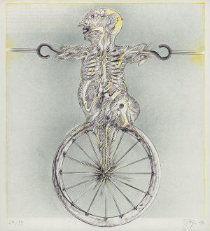 Bernhard Jäger, o.T. Röntgenbild, Farblithographie