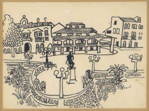 Franz Hrastnik, Mexico, Zeichnung