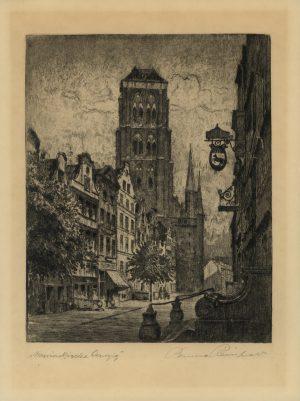 Bruno Reinhold, Marienkirche Danzig, Radierung