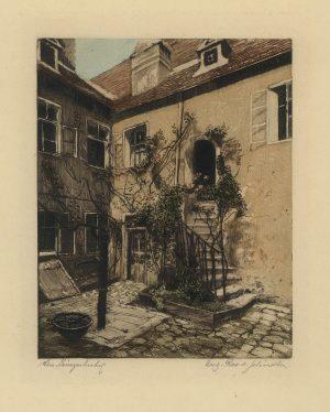H. Schindler, Wien, Laimgrubenhof, Farbradierung
