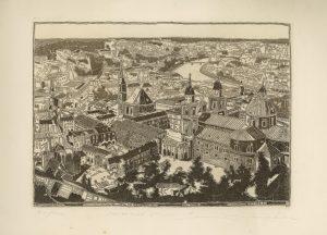Hermann Härtel, Salzburg Stadt, Radierung
