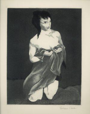Eberhard Schlotter, Frauenportrait, Tiefdruck