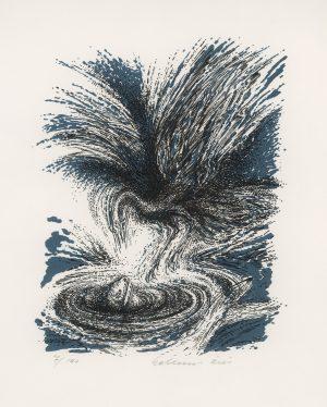 Helmut Kies, o.T., Farblithographie