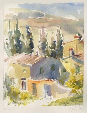 Kurt Panzenberger, Fiesole/Florenz, Aquarell