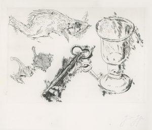 Günter Grass, o.T., Radierung