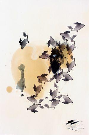 Johannes Heuer, Wieso?, Aquarell, Inkjet, Öl