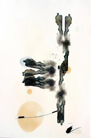 Johannes Heuer, Wobei?, Aquarell, Inkjet, Öl