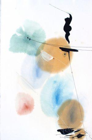 Johannes Heuer, Wonach?, Aquarell, Inkjet, Öl
