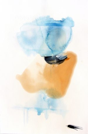 Johannes Heuer, Inwiefern?, Aquarell, Inkjet, Öl