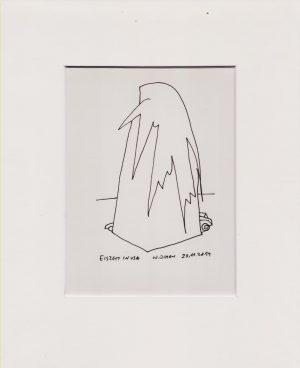 Wassil Dimow, Eiszeit in USA, Tuschezeichnung
