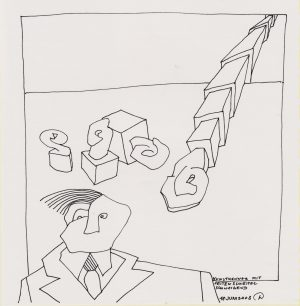 Wassil Dimow, Kunstkenner, Tuschezeichnung
