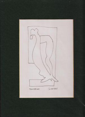 Wassil Dimow, Tanzbeine, Tuschezeichnung