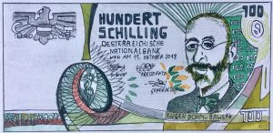 Dimitri Holzinger, Hundert Schilling, Aquarell, sig.