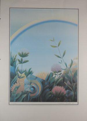 Roman Haller, Blumenmotiv, Lithographie 7/150