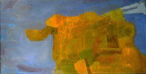 Jungfrau Johanna Artmann, Aug in Aug  Öl auf Leinwand, verso signiert