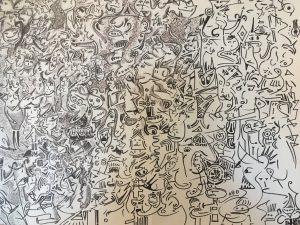 DIMITRI HOLZINGER, Ghosts, Bleistift auf Papier