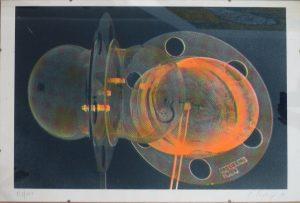 Cornelius Kolig, OT, Siebdruck in Bildhalter 138/200 signiert
