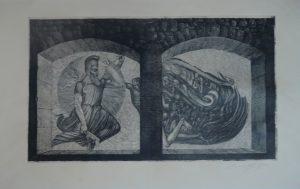 O.T., Ernst Fuchs, Radierung signiert