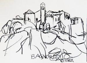 Bagnoreg(io) Cividia(le) bei Rom, Oswald Kollreider, Kreide auf Papier signiert