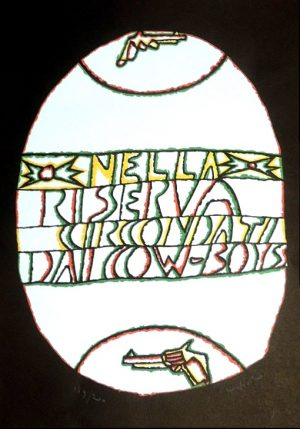 Nella riserva, Ugo Nespolo, Farbserigraphie