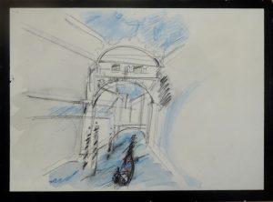 Seufzerbrücke  Aquarell
