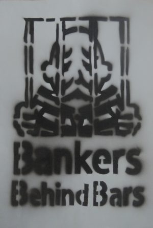 Banker behind bars, Clio, Kunstdruck