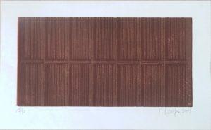 Schokolade, Martin Staufner, Farblithographie 18/90