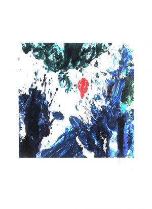 O.T., Max Weiler, Farb-Lithographie signiert auf Platte und im Original