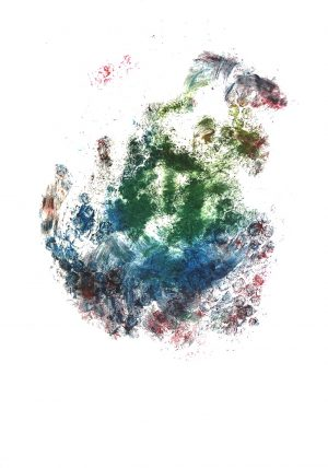 Napoli, Jungfrau Johanna Artmann, Noppenfoliendruck 1/1 verso signiert