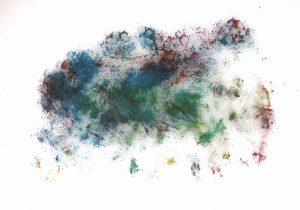 Antibes,  Jungfrau Johanna Artmann, Noppenfoliendruck 1/1 verso signiert