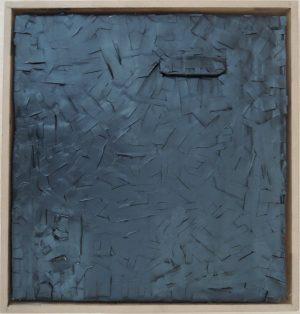 Richard Jochum, wundenüberwunden, Lackierte Pflaster auf Karton