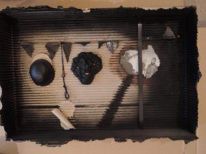Heinrich Heuer, Afrika, Assemblage signiert