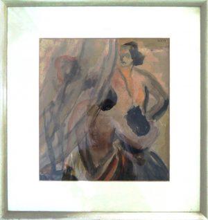 Iris Siegfried-Seiffert, Liebespaar natürlich anders…, Aquarell, verso signiert