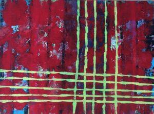 Jungfrau Johanna Artmann, Who is afraid of red and yellow?, Verso signiert