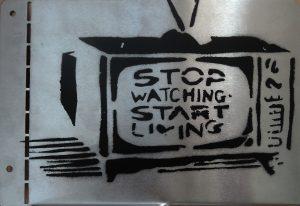 Sebastian Nowak, Stop watching…, Metall-Aufsteller
