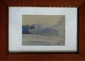 R. Antonovic, Mein Winterspaziergang, Aquarell im Rahmen, signiert datiert 1925