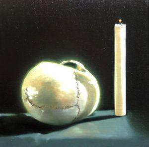 Lubomir Hnatovic, Vanitas 3,  Öl auf Leinwand