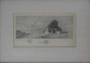 Anton Kaiser, Wien 19 Nussdorf, Originalradierung signiert gerahmt
