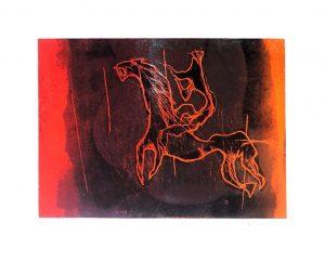 Fred Nowak, Reiter 3 dunkel, Lithographie 1972 signiert nummeriert