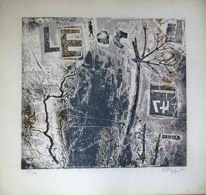 Fred Nowak, Kommt ein Brief, Materialdruck 1968 signiert nummeriert