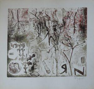 Fred Nowak, Treffpunkt Zaubergarten, Materialdruck 1968 signiert nummeriert
