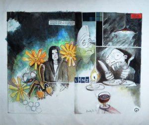 Stephan Pfeffer, Linz zwo, C-Print und Acryl auf Textil