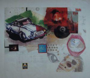 Stephan Pfeffer, Hole, C-Print und Acryl auf Textil